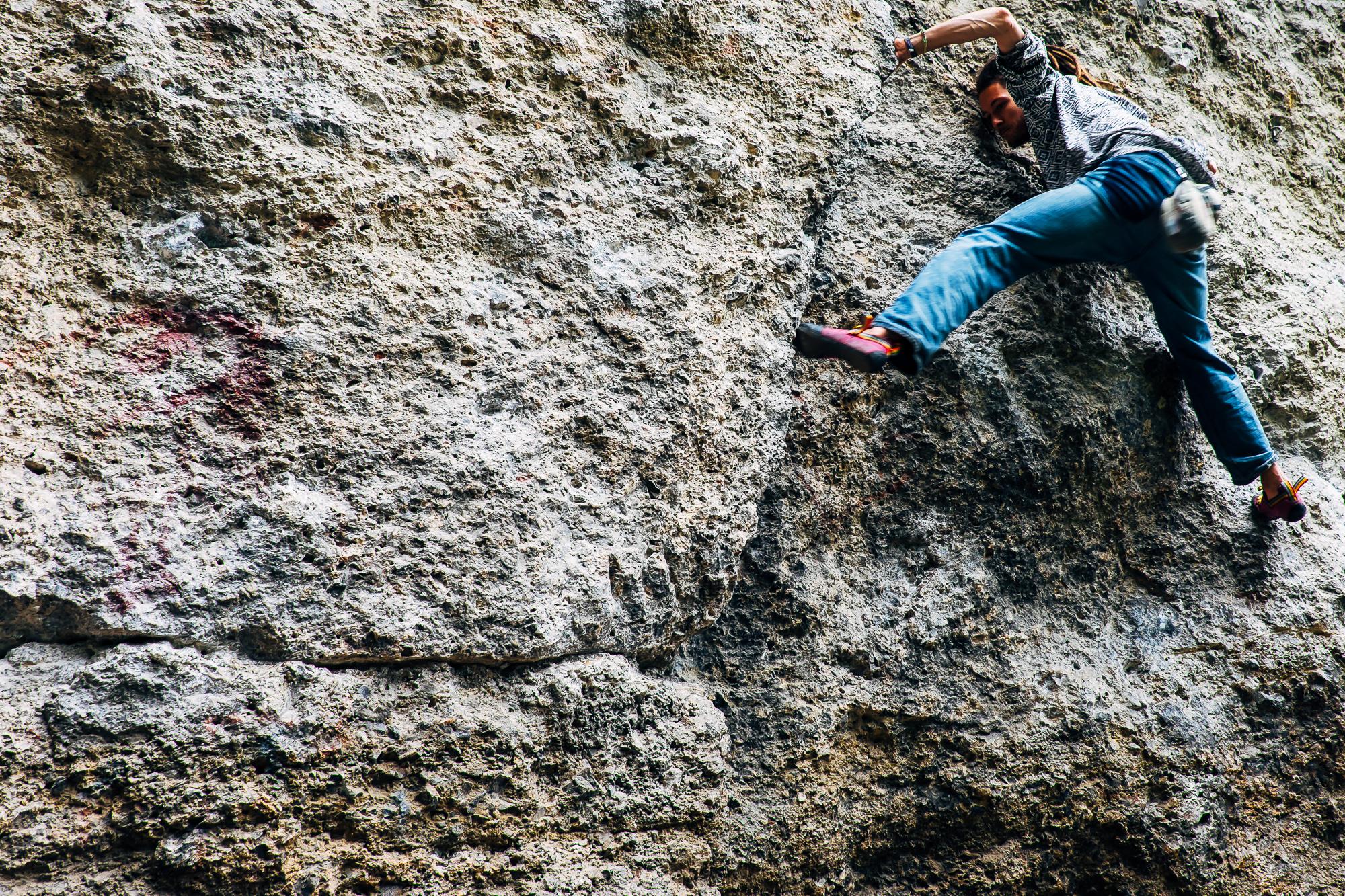 Klettern Bouldern